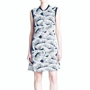 Theory Loreese Palm Tree Print Dress